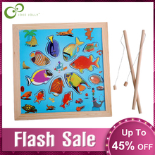 Baby Toys Fishing-Toy-Set Wooden Play Magnetic Water Children for GYH Suit Gifts Christmas