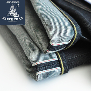 Image 4 - SauceZhan 316XX Casual  Selvedge Jeans Raw Denim Jeans Unwashed  Selvage Indigo Denim Jeans Straight  Mens Jeans