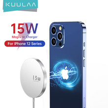 KUULAA – chargeur magnétique sans fil 15W, charge rapide, pour iPhone Mini 12 Pro Max, Huawei Xiaomi Qi