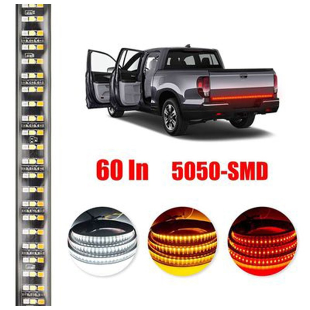 60 Inch Truck Tailgate LED Light 3528 LED Strip Bar Brake Reverse Turn Signal Stop Waterproof Tail Strip Lamparas 40NOV19 (3)