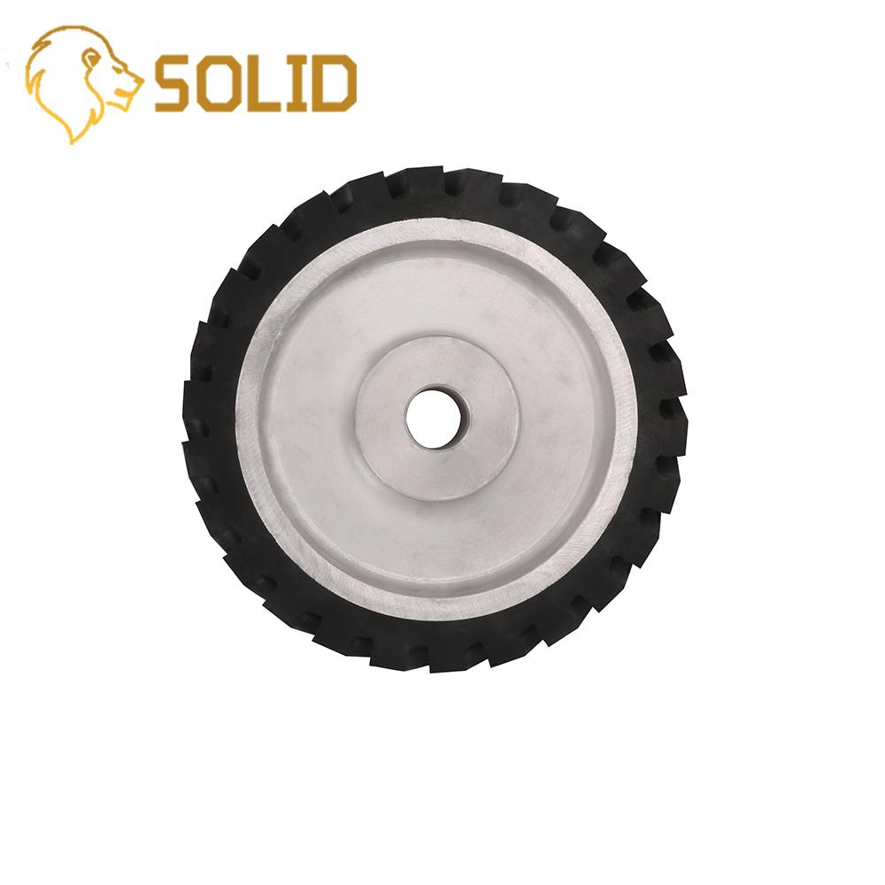 Contact Wheel 200X50mm Serrated Belt Grinder Contact Wheel Contact Rubber Wheel For Abrasive Sanding Belt