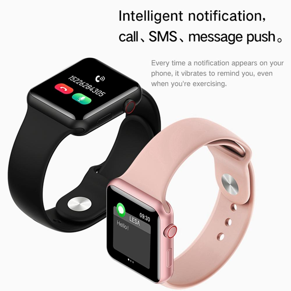 LEMFO Full Touch Smart Watch Men Women For Apple Watch Series 5 Dropshipping Blood Pressure Monitor Music Control VS B57