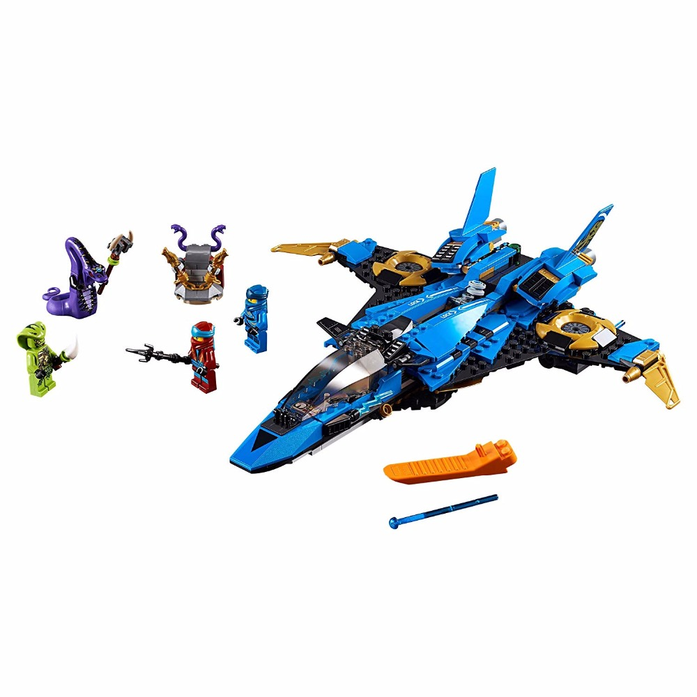 490Pcs <font><b>Ninjagoes</b></font> Jay Storm Fighter Spaceship Wars Building Blocks Toys Compatible Legoinglys <font><b>Ninjagoes</b></font> <font><b>70668</b></font> Christmas Gift image
