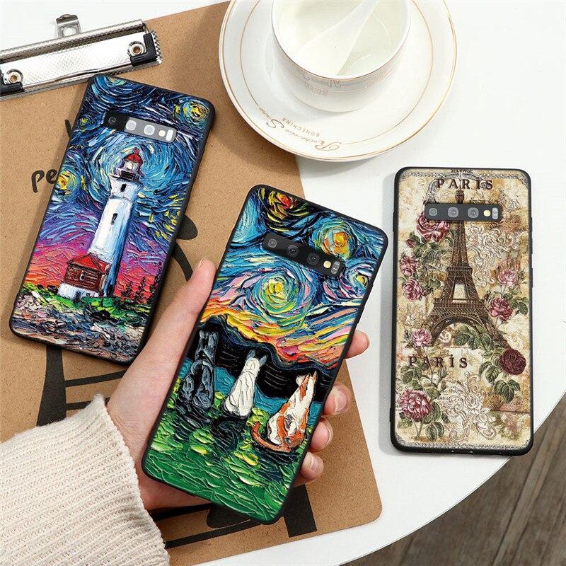 TPU 3D Emboss Case For Samsung Galaxy A51 A81 A71 A60 A50 A40 A30 A21 A10 A7 A8 A9 2018 S20 Ultra S10 S9 S8 Plus Note 10 9 Cover