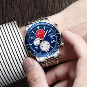 Image 5 - NIBOSI hommes montres 2020 nouveau bleu haut marque de luxe hommes sport chronographe montre hommes montres à Quartz horloge Relogio Masculino