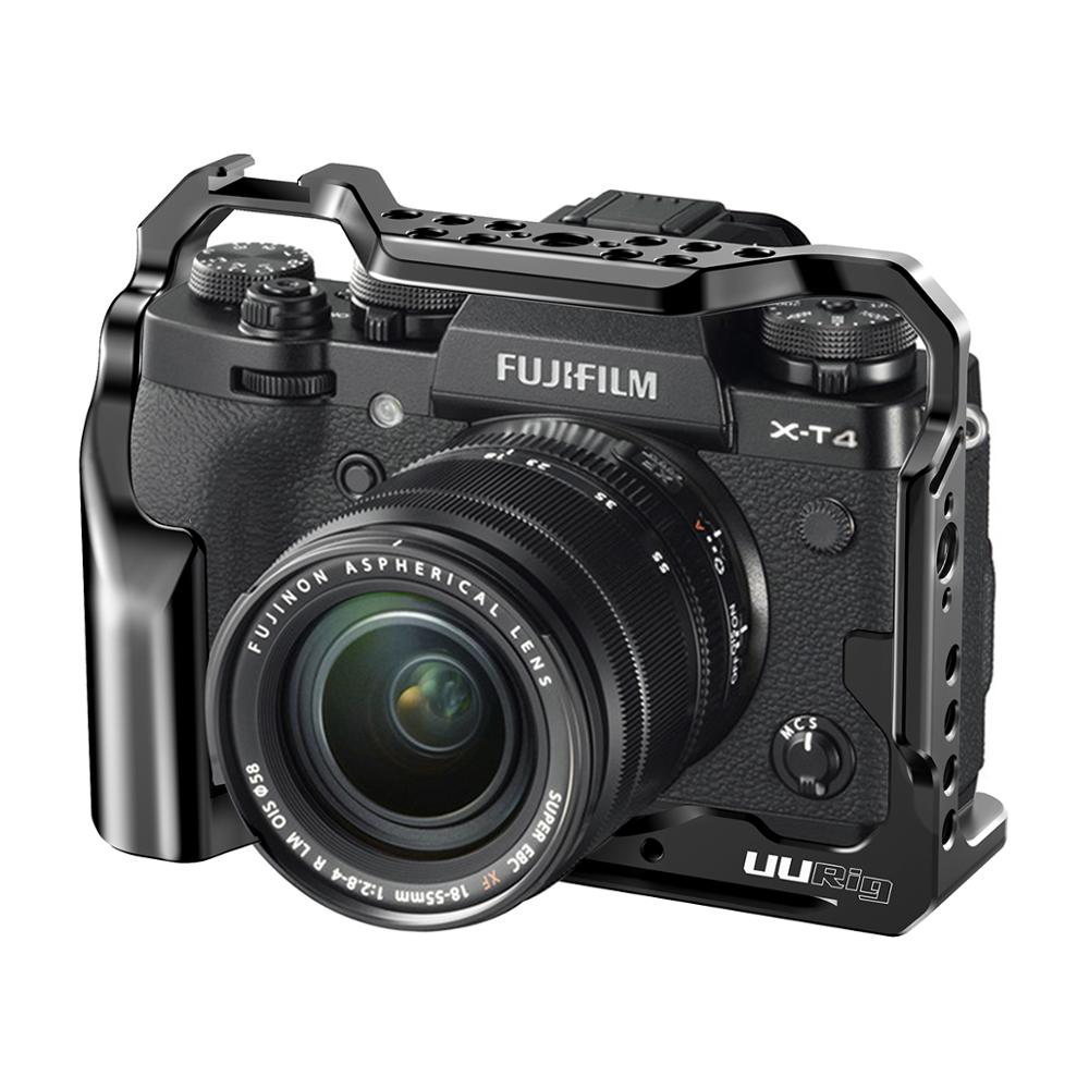 UURig C-XT4 Camera Cage For FUJIFILM X-T4 Camera Formfitting Full Cage W/ Shoe Mount Mutiful Thread Holes
