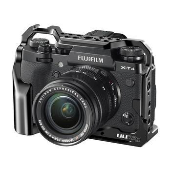 Sangkar kamera UURig C-XT4 untuk bentuk kamera FUJIFILM X-T4 yang sesuai dengan sangkar penuh dengan lubang berbilang tali kasut