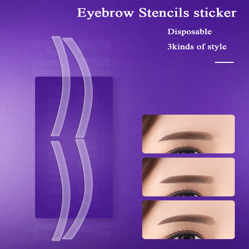 Microblading Accessories Disposable Eyebrow Shaping Sticker Auxiliary Template Eyebrow Stencil Permanent Makeup Tools Supplies