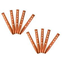 2x 5 uds de aleación de aluminio en forma de U de Camping al aire libre de nieve arena estaca piqueta tienda herramienta-naranja/rojo/azul/Color al azar