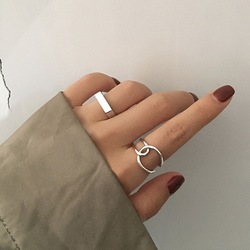 Creative Simple Geometric Ring Women Handmade Open Rings Minimalist Couple Engagement Party Jewelry Gifts Accessories