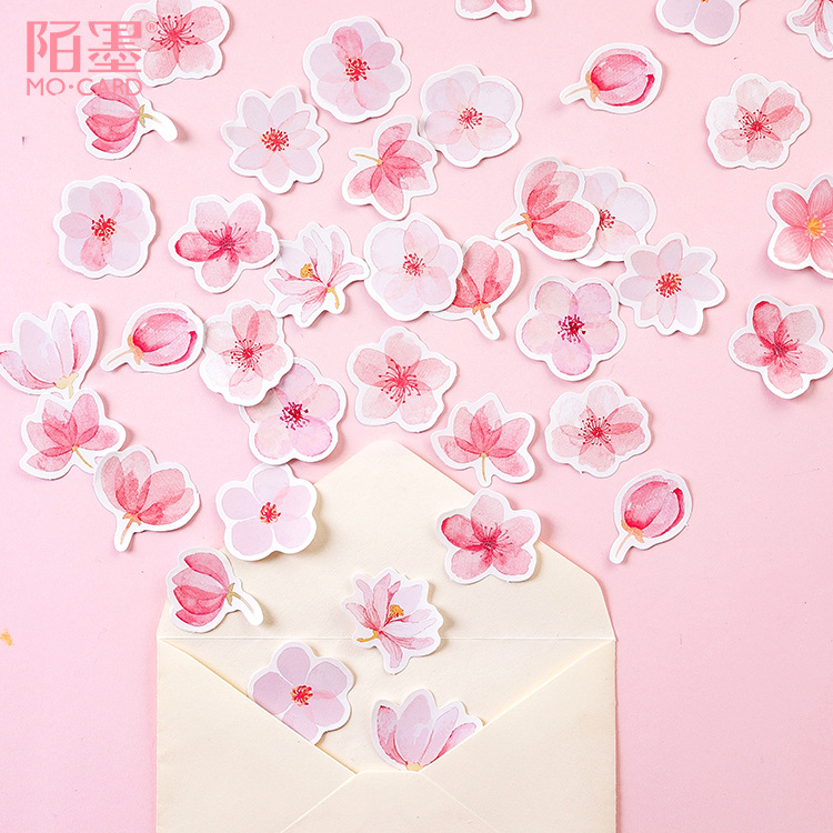 Mohamm Japanese Cherry Blossoms Planner Flower Diary Deco Paper Small Kawaii Stickers Stationary Scrapbooking Journal