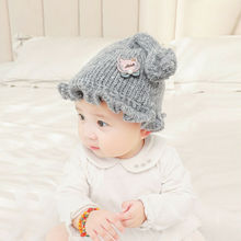 2019 Children Baby Hat Autumn Winter Warm Soft Knitted Beanie Hat For Toddler Boy Girl Cap Newborn Photography Props 0-12 Months winter baby ears knitted hat infant toddler keep warm cap for children art deco cap