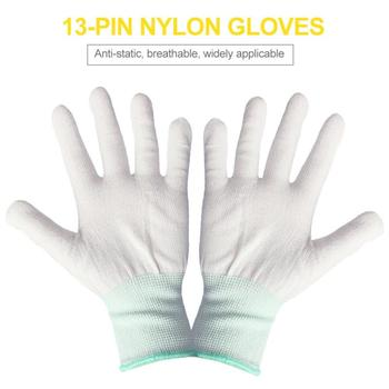 A pair Work Gloves Labor protection yarn gloves cotton thread white thread site driver auto repair work gloves tanie i dobre opinie CAR-partment Z pełnym palcem Poliester i bawełna Unisex