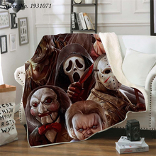 Fleece Blanket Bedspread Sherpa Throw Horror Quilt Movie Thick American Fashion Printed