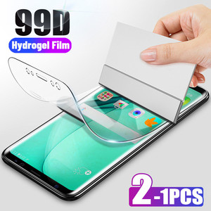 99D 2-1Pcs Hydrogel Film For Huawei P Smart Z 2018 2019 Y6 Screen Protector For Huawei Mate 20 P20 Lite P30 Pro Film Not Glass(China)