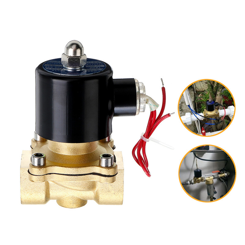 1Pcs 1/2 3/4 1 Inch 12V Electric Solenoid Valve Pneumatic Valve For Water Air Gas Brass Valve Air Valves