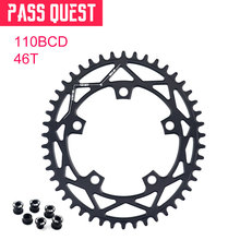 PASS QUEST 110 / 5 BCD 110BCD Oval Road Bike 42T-52T Narrow Wide Chainring Chainwheel For 3550 APEX