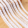 1pcs Pure cotton embroidered lace fabric white beige DIY handmade craft patchwork scrapbook clothes sewing accessories supplies