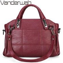 Vrouwelijke Handtas Hoge Kwaliteit Zacht Leer Vrouwen Tas Designer Luxe Merk Casual Schoudertas Messenger Bags Voor Vrouwen Sac Een belangrijkste