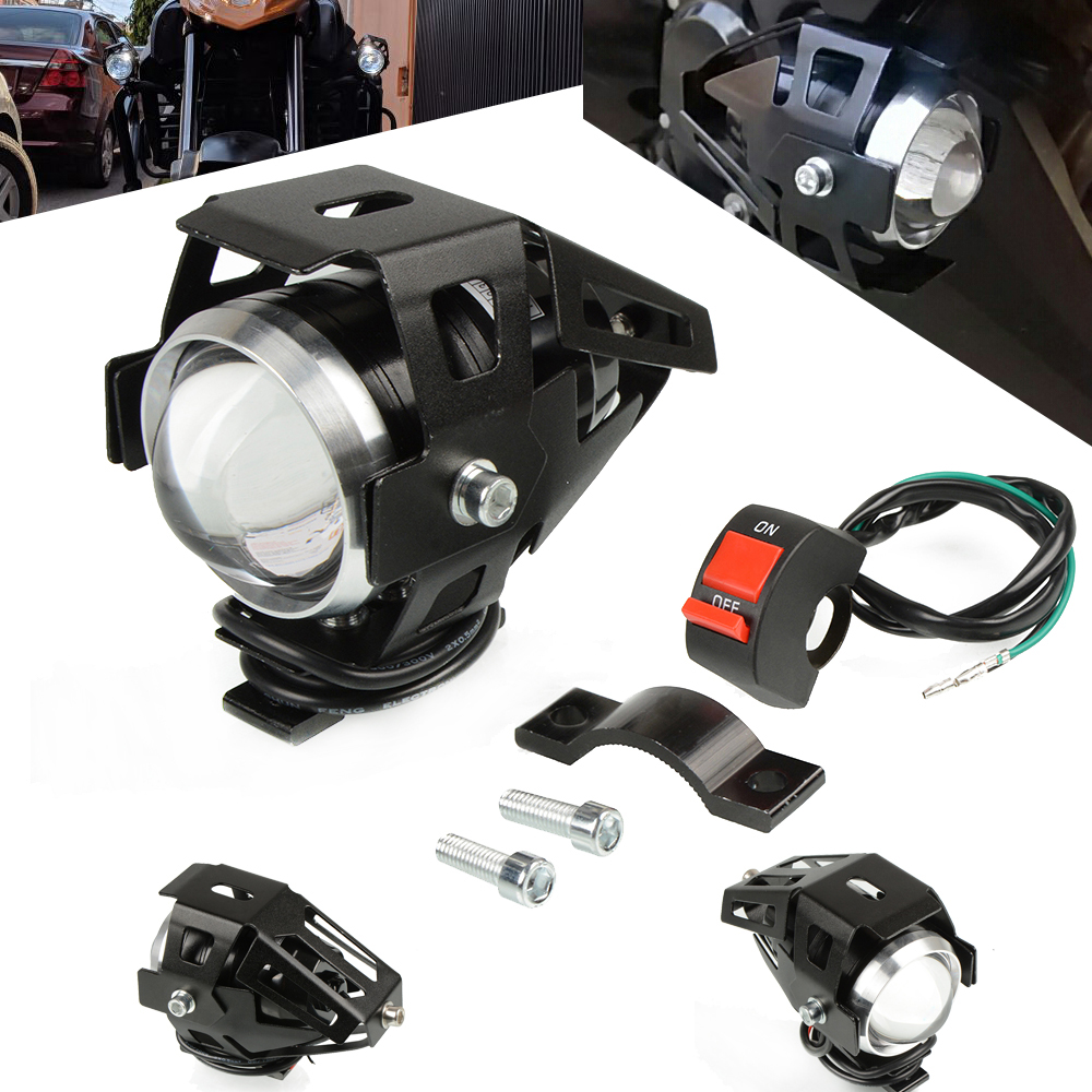 Motorcycle <font><b>LED</b></font> <font><b>Headlight</b></font> Motorbike Driving Spotlight Fog Spot Head Light Lamp For Kawasaki <font><b>NINJA</b></font> <font><b>300</b></font> 400 ZX6R ZX9R ZX12R ER6N/F image