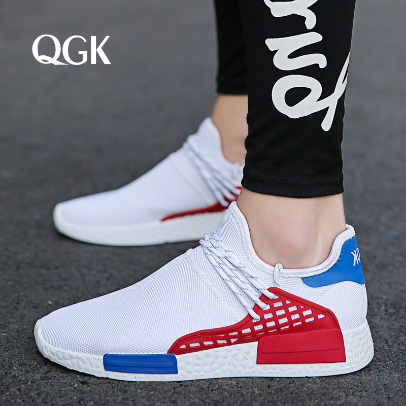 QGK New Summer Men Shoes Sock Sneakers Slip Men Casual Shoes Man Loafers Sock Breathable Mesh Sneakers Tenis Masculino Adulto