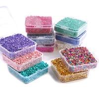 Piedra de vidrio roto en caja de 80g, brillante, multicolor, resina epoxi, piedra de relleno, joyería Irregular, artesanía de fundición