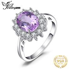 купить Princess Diana 2.3ct Natural Amethyst Ring Pure 925 Sterling Silver 2016 Brand Charm Engagement Rings For Women Vintage Jewelry по цене 976.32 рублей
