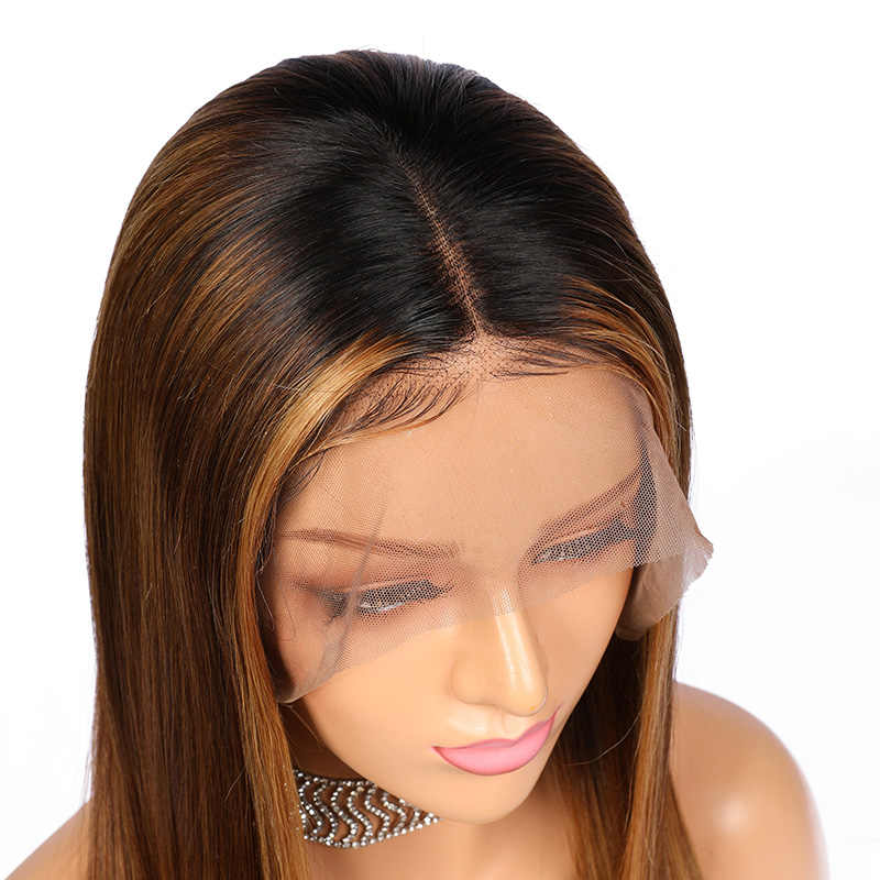 Ali Queen Lace Front Menselijk Haar Pruiken Braziliaanse Remy 13X4 & 13X6 Kant Pruiken 370 Nep hoofdhuid Pruik Preplucked Ombre Straight Pruiken