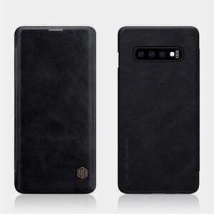 Image 2 - Pour Samsung Galaxy S10 S10e S10 + Plus étui à rabat Nillkin QIN cuir carte poche portefeuille protection couvercle rabattable pour Samsung S10Plus