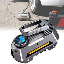 12V 120W 120PSI Portable Car Super Bright Tyre Inflator Digital Basketballs Larger Flow LED Display Air Compressor Accessories