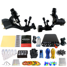 Dragonfly Tattoo Machine Tattoo Rotary Machine 2 Pro Machine Guns Power Supply Needle Grips Tips Starter Tattoo Kit new 2pcs butterfly rotary tattoo machine kits lightweight dragonfly cheap tattoo machine 2 colors machine supply