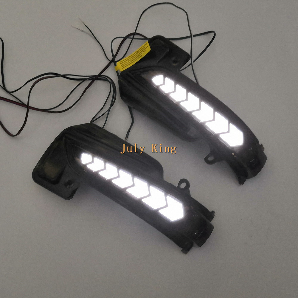 LED rétroviseur éclairage boîtier pour Toyota Fortuner 2016 +, blanc DRL + Streamer jaune clignotants + blanc lampe au sol - 4