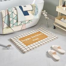 Bath-Mat Absorbent Pattern-Decoration Microfiber Entrance-Door Anti-Slip Cartoon Flocking