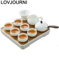 Keuchiulpjes Gongfu Aksesuarlari po południu Cucina ślub Akcesoria Do Kuchni Kung Fu Mutfak czajniczek Teaware Pot chiński zestaw Do herbaty w Zest. naczyń do herbaty od Dom i ogród na