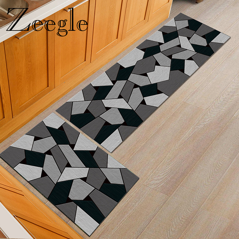 Zeegle Doormat Carpet Kitchen Floor Mat Area Rug For Living Room Yoga Anti Slip Foot Mat Anti Slip Absorbent Hallway Floor Rug
