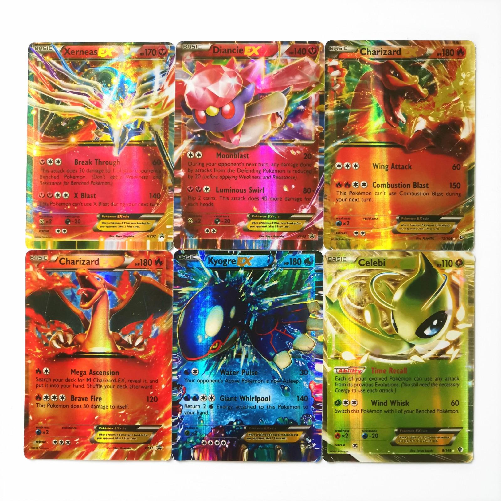 Pokemon EX Shining TAKARA TOMY Cards Game Battle Carte 100pcs Trading Toys For Children