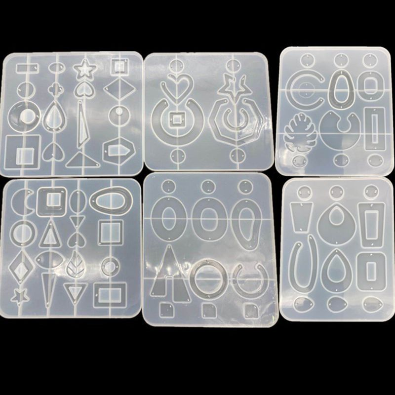 1PC Pendant Earrings Silicone Decorative Pendant Sets Mold Handmade Epoxy Silicone Mold Epoxy Resin Molds Making Crafts