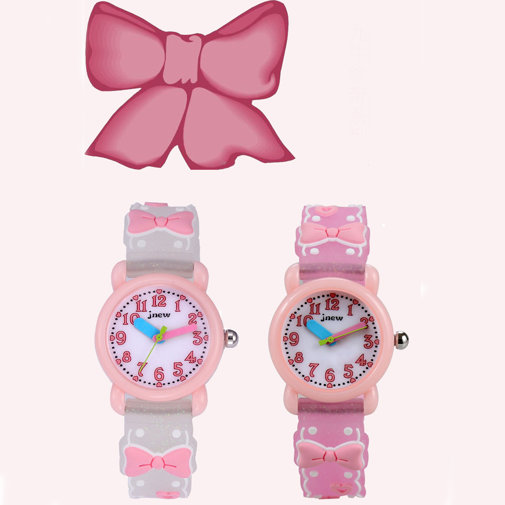 Kids Watches 3D Cute Children\'S Cartoon Watch Silicone Strap Waterproof Analog Quartz Girls Wrist Watches Beautiful Butterfly