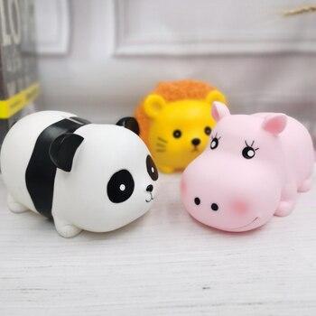 Panda hucha dibujos animados tanque de almacenamiento hipopótamo niños hucha León hucha Día de los niños cambiar moneda estuche de almacenamiento de monedas