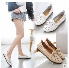 2019Women shoes Loafers women flats moccasins Shoes Woman Genuine Leather shoes Flats Slip On Women's Flat Shoes zapatos mujer(China)