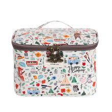 Cartoon make-up bag women large capacity will hand in hand with cosmetics finishing bag wash bag bucket bag