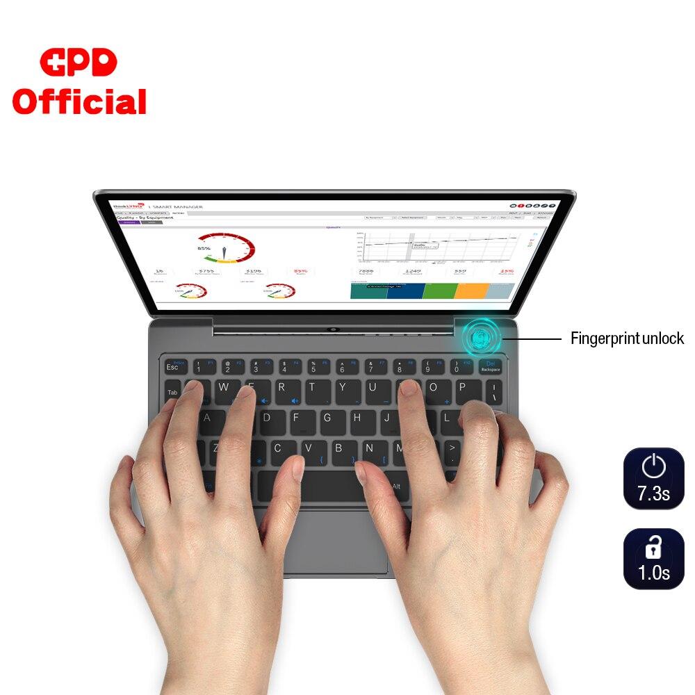 GPD P2 Max Pocket 2 Max 8,9 дюймов сенсорный экран межядерный m3-8100y 16 ГБ 512 ГБ Мини ПК карманный ноутбук Windows 10 система