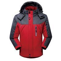 Men Hoodie Waterproof Windproof Jacket Outdoor Snow Coat Hiking Winter Ski Sport For Outdoor Mountain Skiing Snowboard Coat