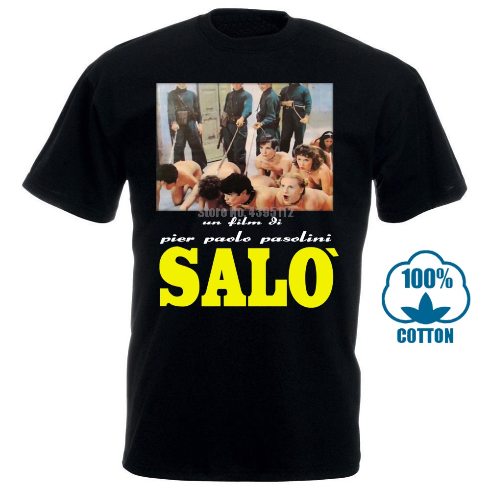 Salo 120 Days Of Sodom T Shirt Movie Paolo Pasolini Horror Exploitation Fashion Summer Paried T Shirts Top Tee 012591