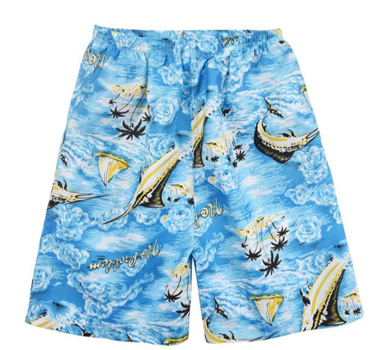 New Summer Casual Shorts Men Printed Beach Shorts Quick Dry Board Shorts Pants 4
