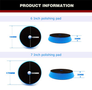 Image 3 - 6/7 zoll Schaum Polieren Pad für Auto polierer 180mm schwamm wachsen pad für auto Pflege Zubehör Grün Schwere Schneiden pad