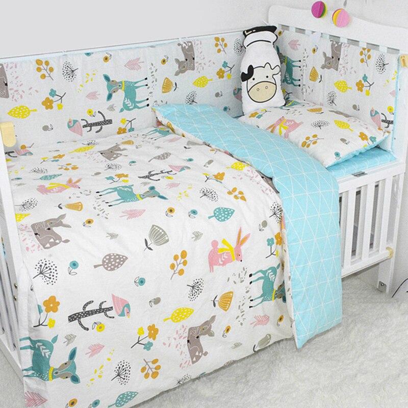 Ensemble de lit de bébé 7 pièces/ensemble ensemble de literie pour enfants ensemble de literie en coton doux