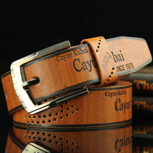 High Quality Men's Casual Belt durable PU Leather Hollow Belt