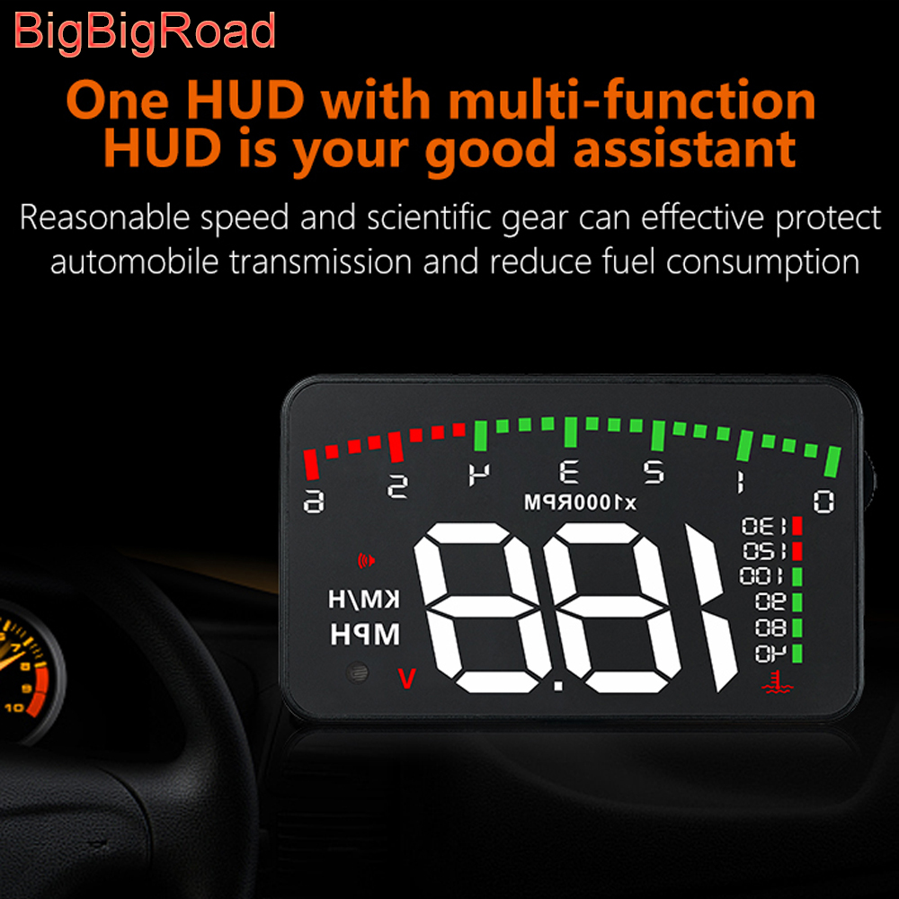BigBigRoad For Mercedes Benz E Class E180 E200 <font><b>E220d</b></font> E260 E280 E300 W212 W213 W210 E320 Car Hud Display Windshield Projector image