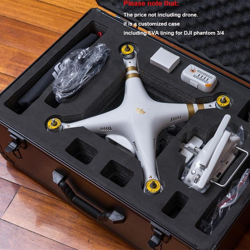 vysoce kvalitní DJI phantom 3 standardní ochranný kufr Vlastní hliníkové pouzdro Speciálně pro DJI 3/4 bez dronů